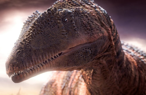 Realistic illustration of Planet Dinosaur