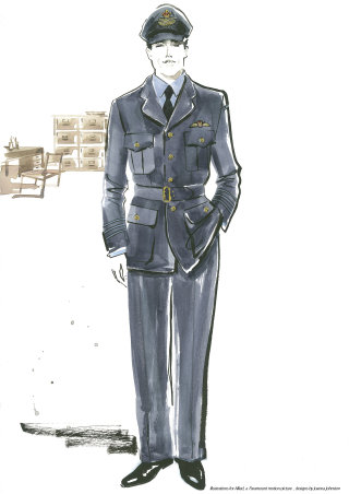 Hand drawing of a soldier