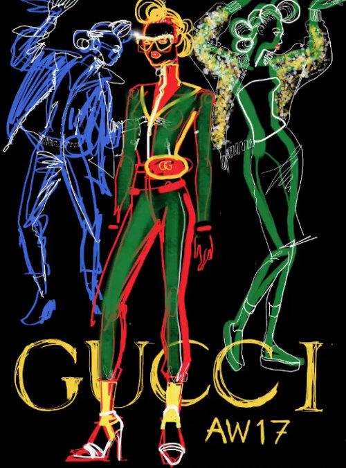 Gucci Fashion model animation