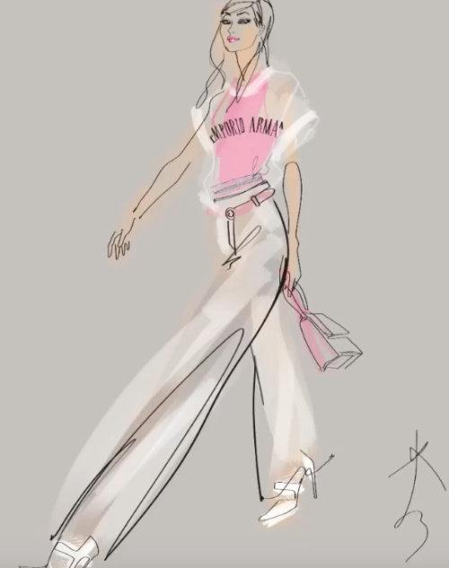 Animation de dessin au trait du mannequin