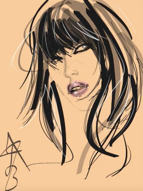 Animation of fashion model