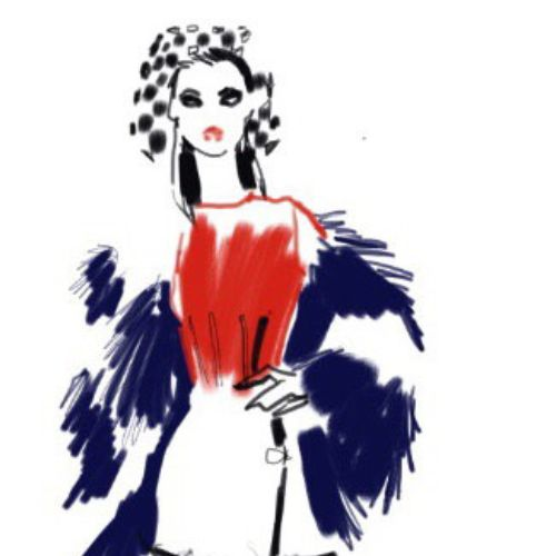 Hand Painted fashion girl