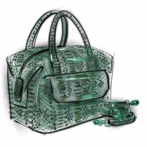 Aquarelle sac femme