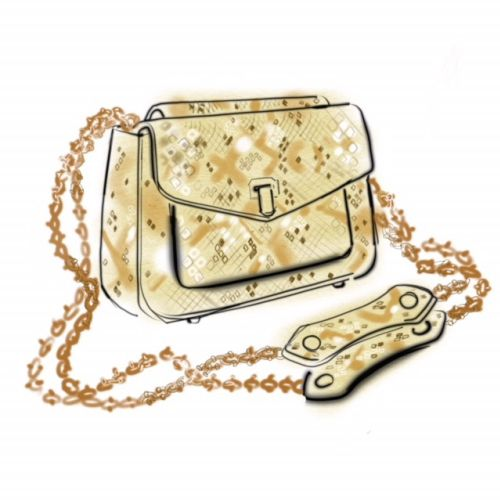 Women's Handbag - Line Drawing