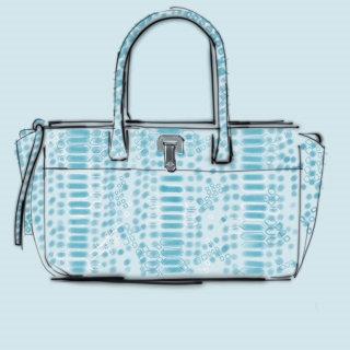 Line illustration of women's handbag