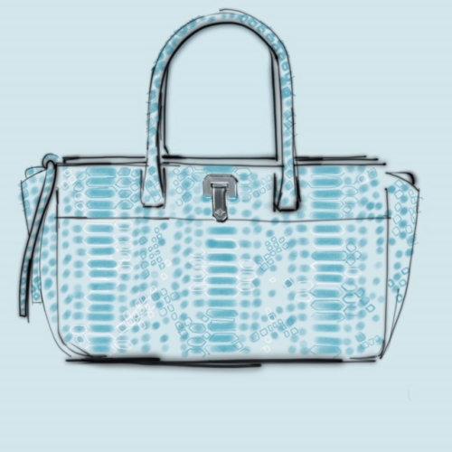 Illustration de la ligne du sac à main des femmes