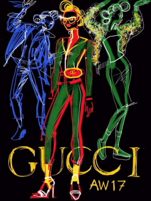 Illustration for Gucci Fashion