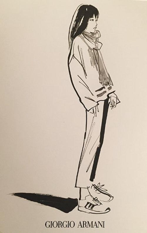 Croquis de mode par un illustrateur basé au Royaume-Uni