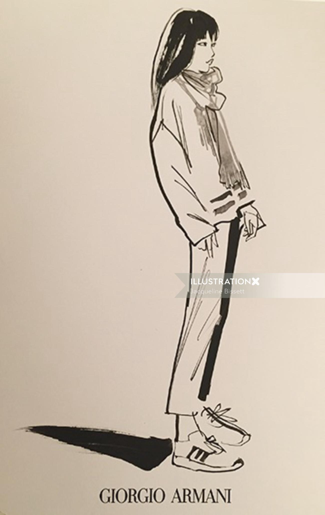 Fashion Sketch By UK Based Illustrator