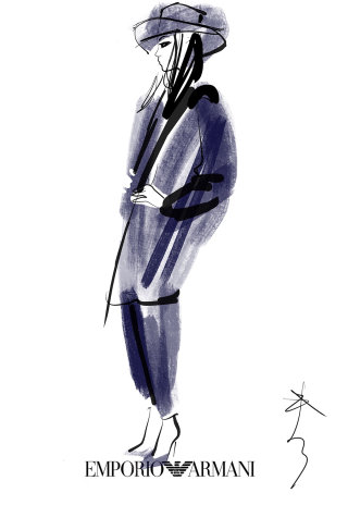 Fashion illustration of a woman