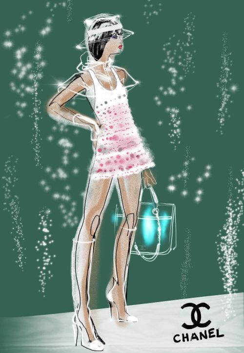 Animation de mode de timelapse Chanel 18