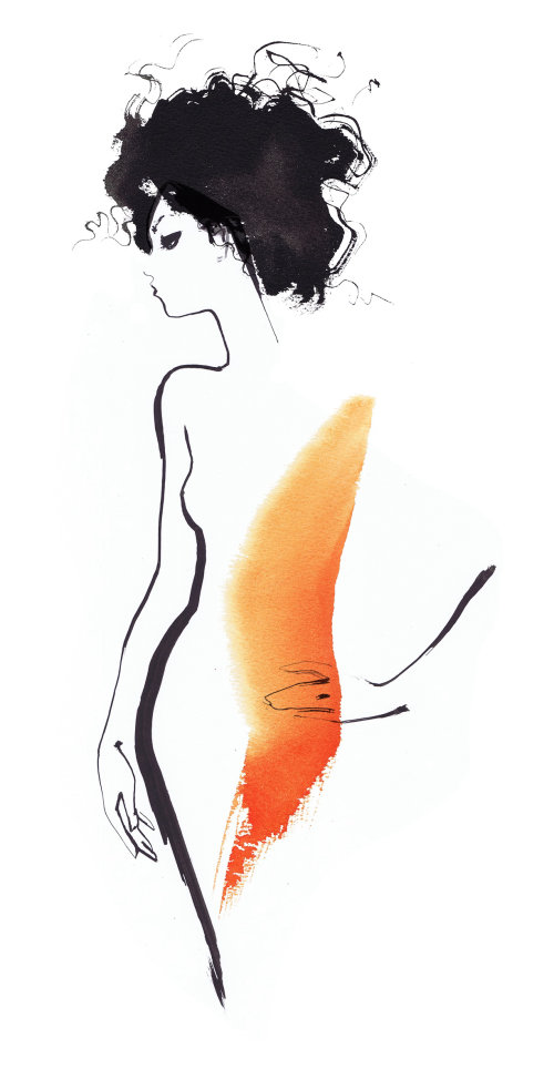 Fashion sketch of a woman