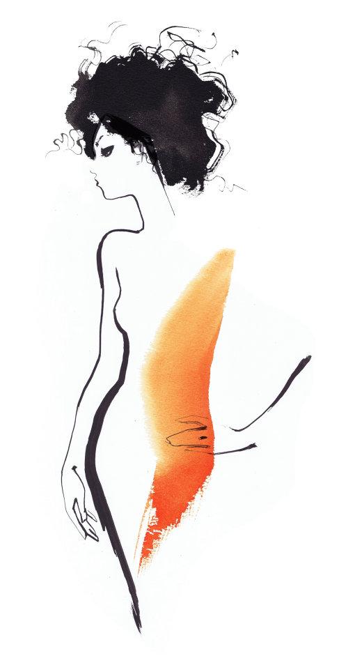 Croquis de mode d'une femme