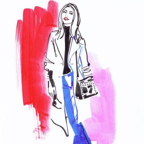 Beautiful woman fashion illustration