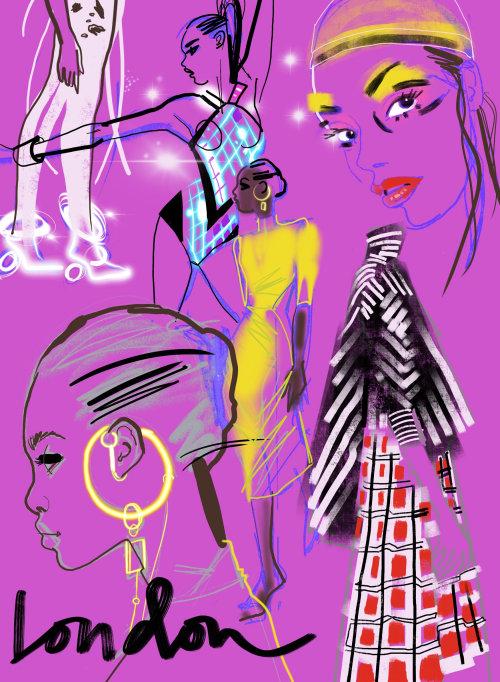 Fille de mode tenue printemps été - événement en direct dessin