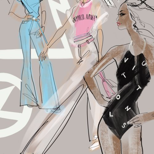 illustraion of fashion girls