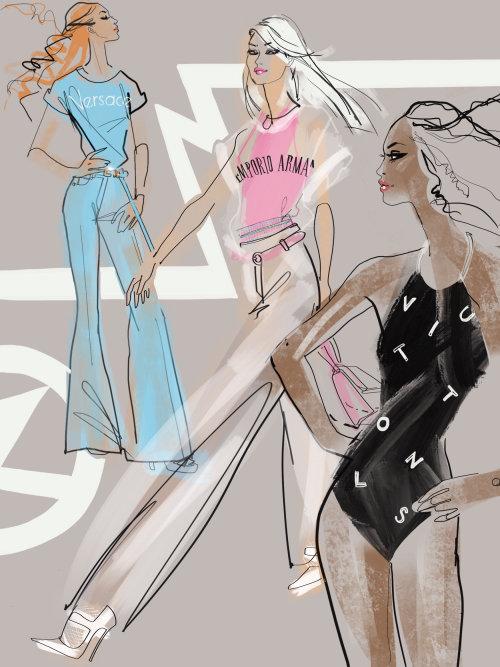 illustraion des filles de la mode