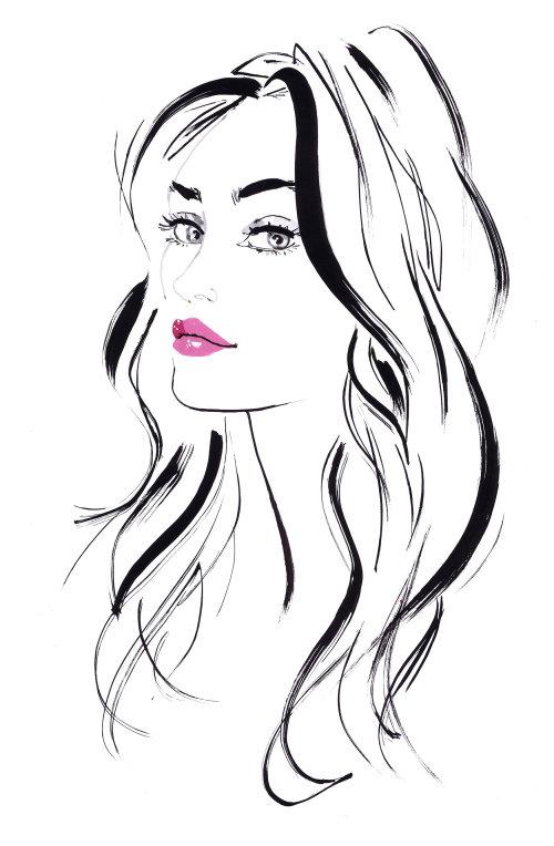 Mode, jolie femme, maquillage