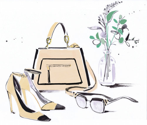 Drawing of brand accessories