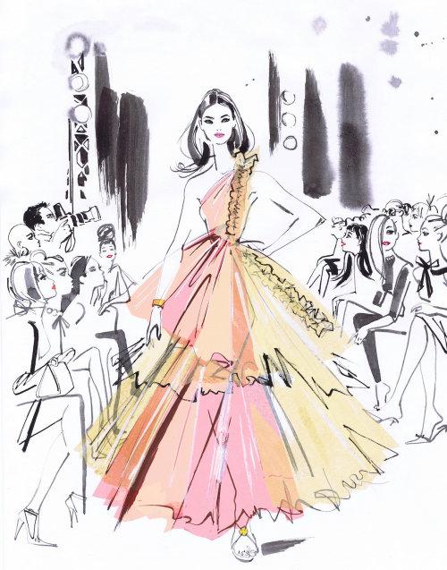 fashion show line drawing