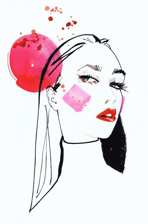 Watercolor fashion lady