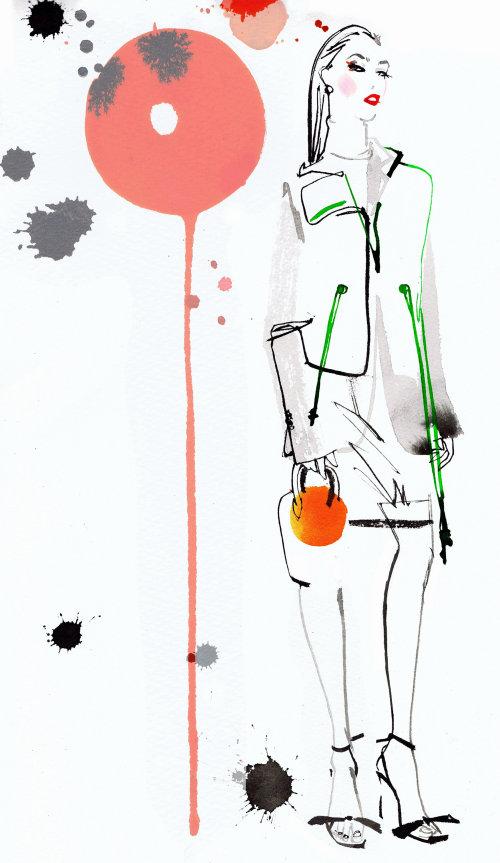 Brushstroke fashion girl