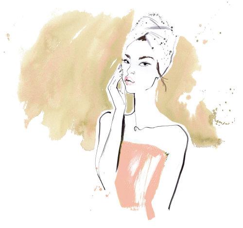 portrait de femme dessiné à la main