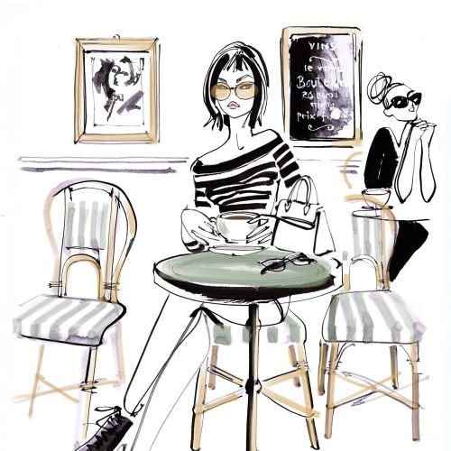 Jacqueline Bissett Illustratrice de mode internationale. Royaume-Uni