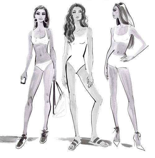Bikini model in Tommy Hilfiger design team 2018