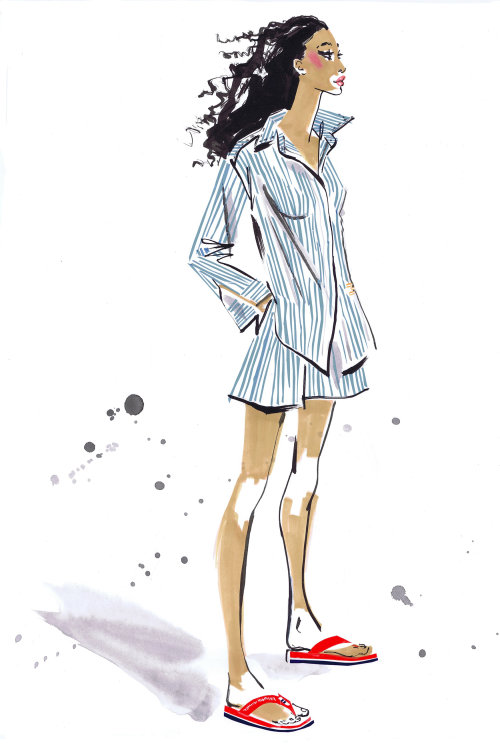 watercolor art of stylish shirt wearing fashion model