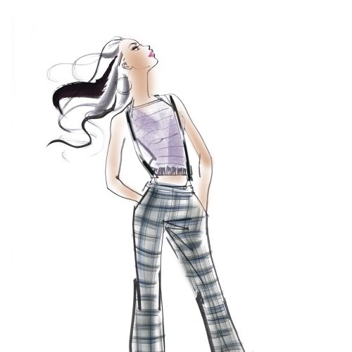 mixed media fashion illustration