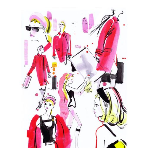 Brushstroke fashion illustration