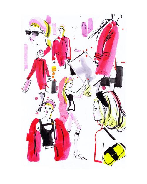 Brushstroke fashion illustration