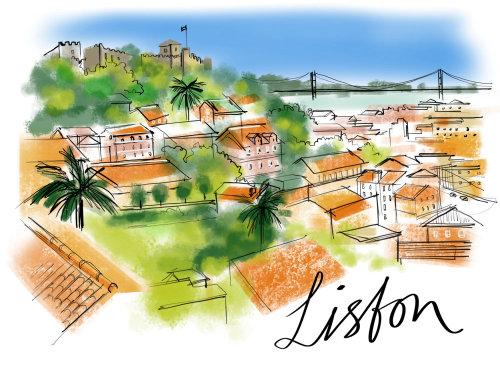Lisfon city drawing
