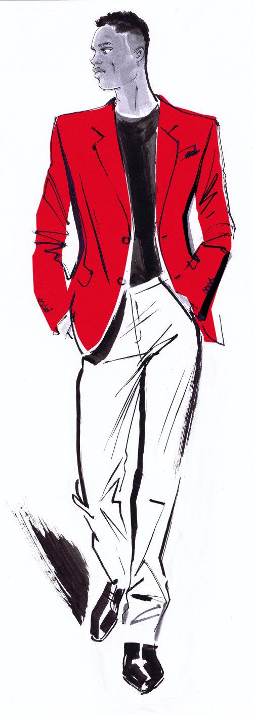 modèle masculin à la mode à la collection Bellevue automne 2019