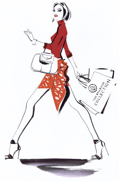 Modèle féminin avec sac à main Collection Bellevue Automne 2019