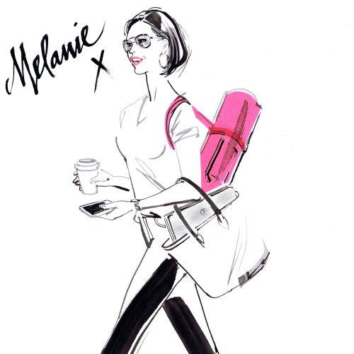 Melanie Sykes portrait for The Frank Magazine