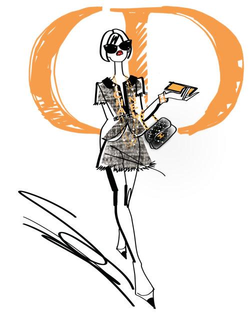illustration de mode du modèle féminin