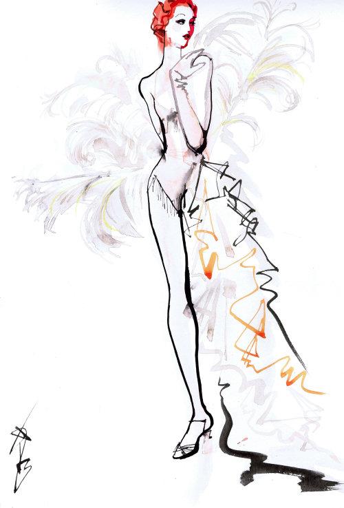 Fashion beauty line art