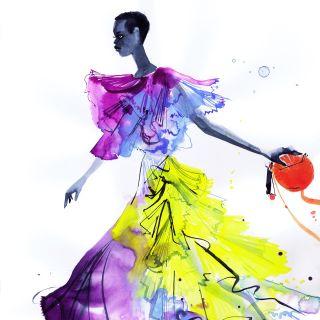 Jacqueline Bissett - International fashion illustrator. UK