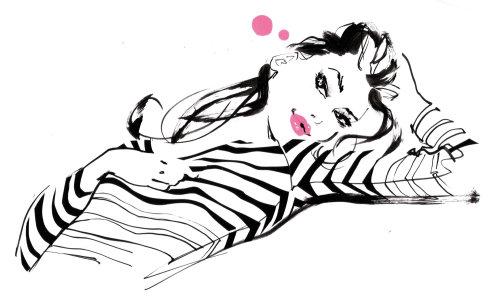 Illustration des costumes de mode dame