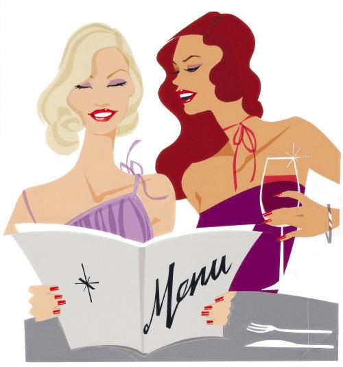 Fashion Models with menu