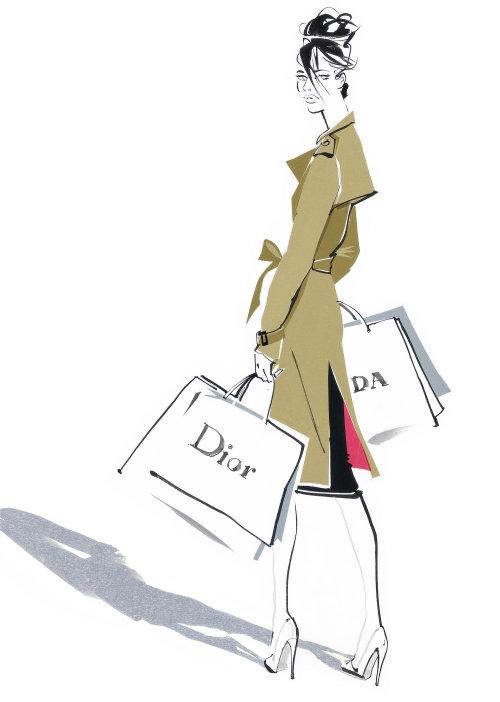 Illustration of fashion costume for women