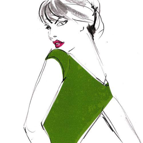 Fashion costume wearing woman illustration