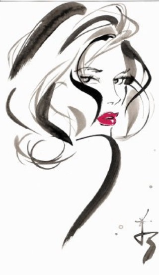Illustration of Jackie Collins