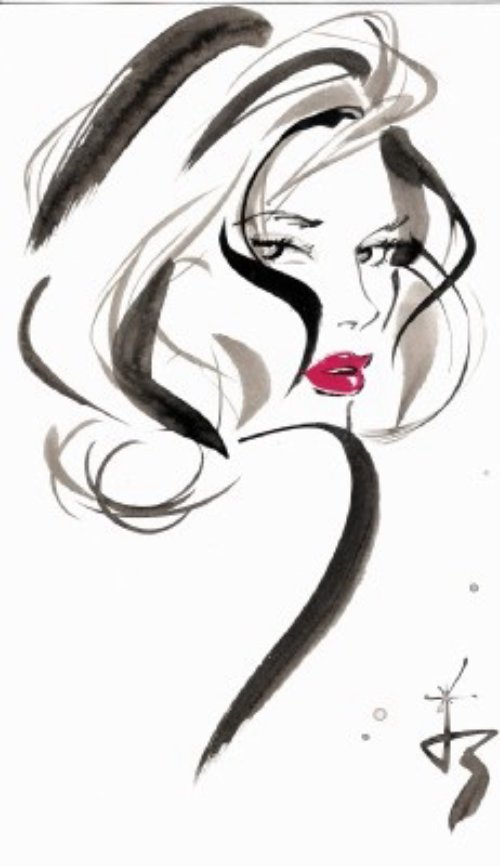 Illustration de Jackie Collins