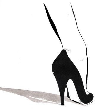 lady legs with high heels -  An illustration by Jacqueline Bissett