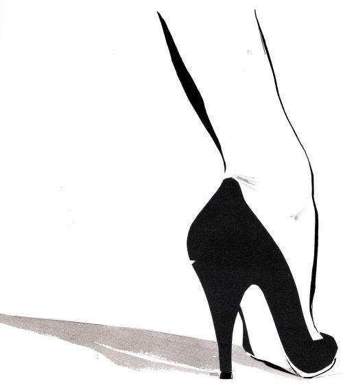 jambes de dame à talons hauts - Une illustration de Jacqueline Bissett