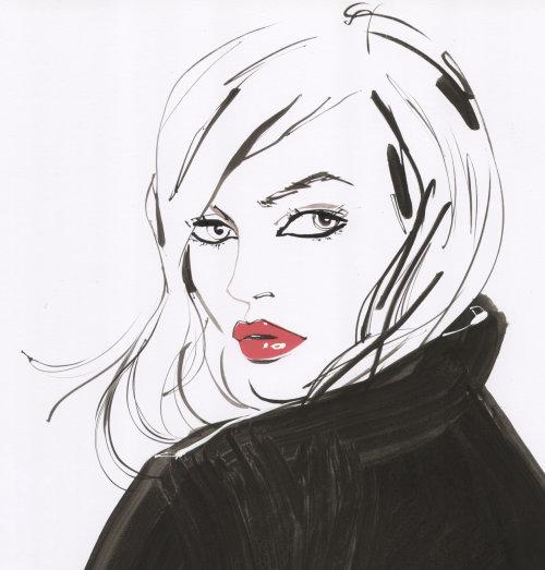 portrait de fille de mode pour Jackie Collins idées pour la couverture 2008