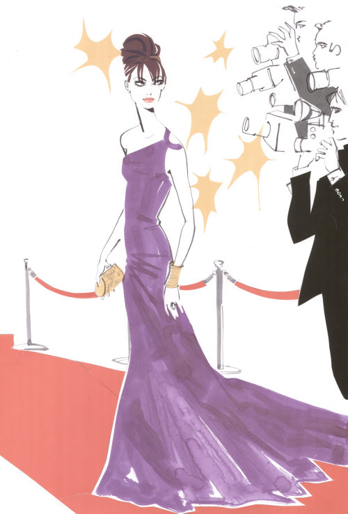 Illustration de mode page de blog Escada Mar2009